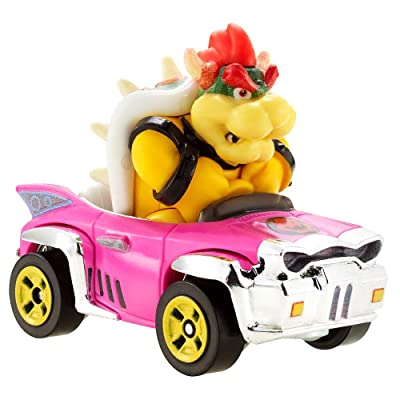 Hot Wheels Bowser Super Mario Kart Character Car Diecast 1:64 Scale: Toys & Games