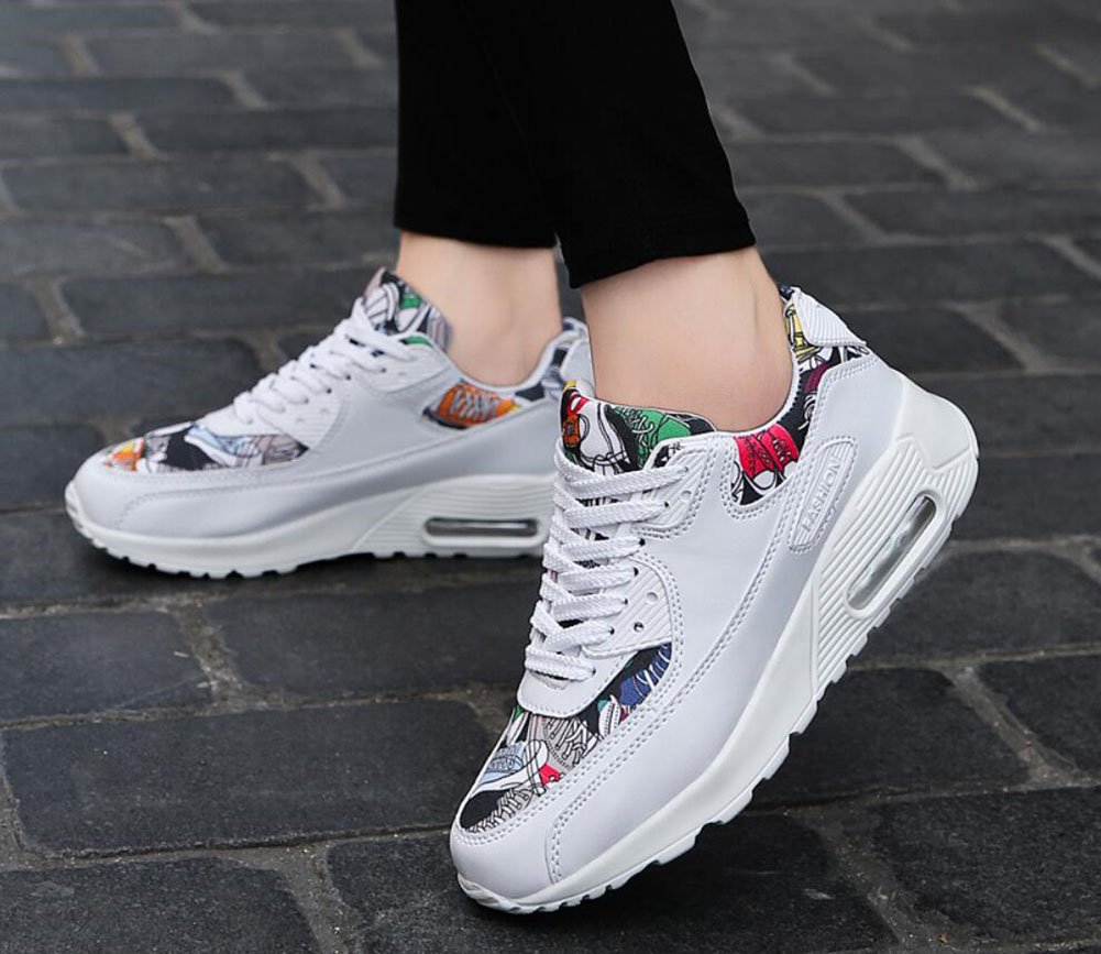 Amazon.com : Mens/womens Sneakers 2018 Personality Fashion Comfort Running Sports Shoes Lovers Non-slip/wear-resistant Casual Shoes (Color : 002, ...