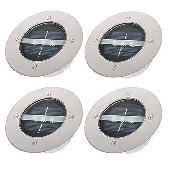 Sol Solaire Encastrable Spot Lampe Kohree Solaires 3 Led En Inoxydable Ampoules 4 Lot Acier Lumière De Dedans Au Enterrée wnOP08kXZN