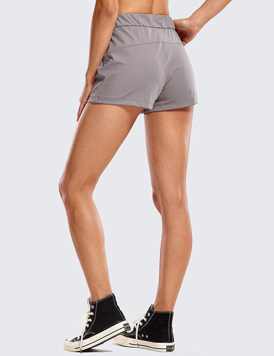 2.5 Inches CRZ YOGA Womens Medium Rise Relaxed Fit Sports Shorts with Pockets