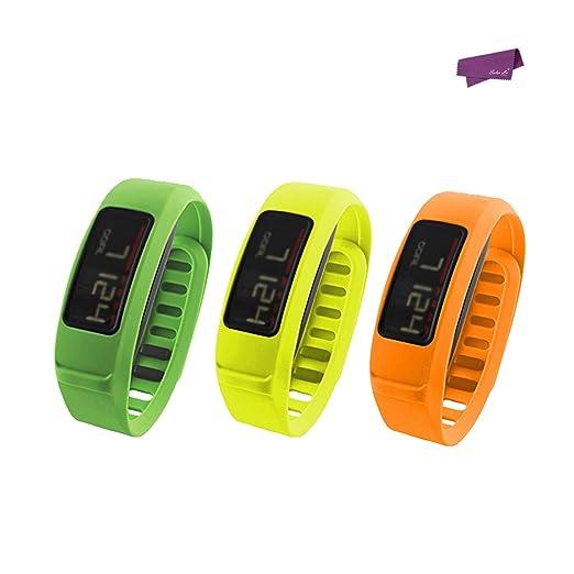 2 opinioni per SalesLa Strap Bracciale 3 PCS sostituzione Banda Wristband per Garmin Vivofit