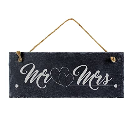 Pizarra con grabado para parejas - Mr. & Mrs - Estándar ...