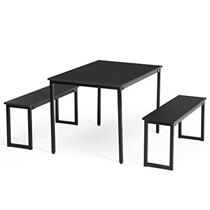Wondrous Amazon Com Ploybeeshop Wood Rectangle Dining Table Set 2 Gmtry Best Dining Table And Chair Ideas Images Gmtryco