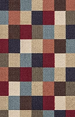 Ottomanson Otto Home Collection Contemporary Leaves Design Modern Runner Rug with Non-Skid (Non-Slip) Rubber Backing