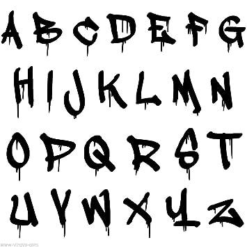 Graffiti Buchstaben Abc Buchstabenhöhe Ca 5cm Hochwertige Uv