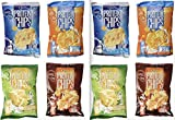 Quest Nutrition Protein Chips, Variety Pack Including BBQ, Sea Salt, Cheddar and Sour Cream, Sour Cream and Onion - Pack of 4