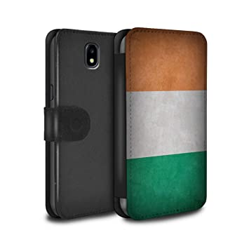 detailed pictures 7c033 f7ee9 Stuff4 PU Leather Wallet Flip Case/Cover for Samsung Galaxy J3 2017/J330 /  Ireland/Irish Design/Flags Collection