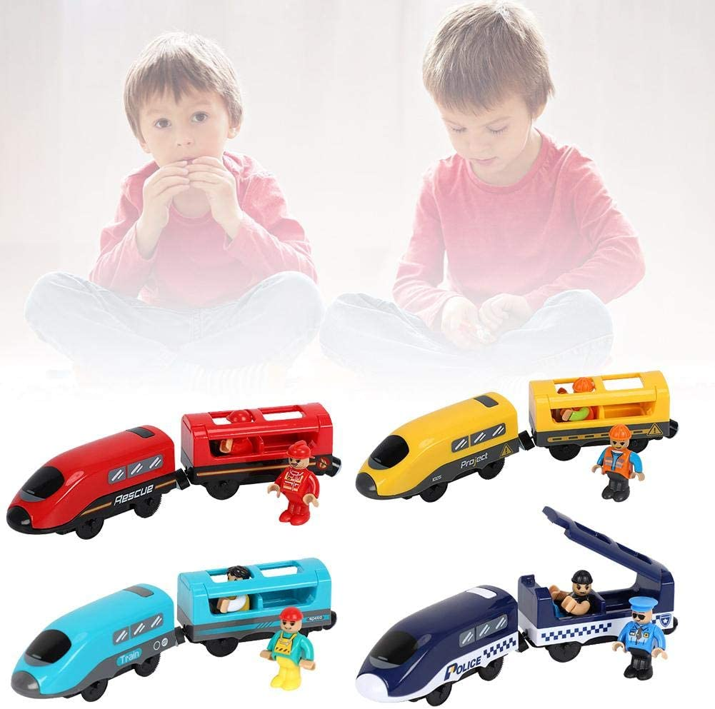 Riosupply Set Of Train Toys-Kids Electric Train Toy Set With Voice Broadcast Battery Powered Train Toy Children Holiday Toy Gift Compatible With Wooden Track