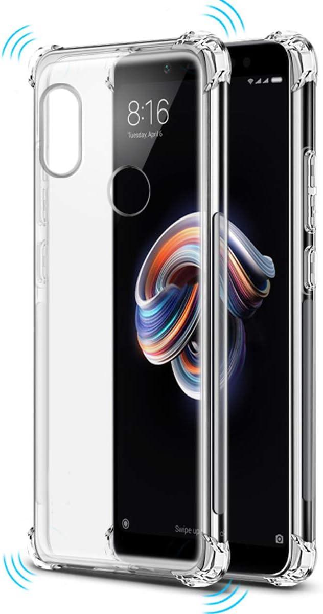 Tumundosmartphone Funda Gel TPU Anti-Shock Transparente para XIAOMI REDMI Note 5 / Note 5 Pro