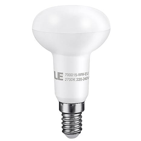 LE® Bombilla LED reflectora R50, casquillo E14, consumo 6W, equivalente a bombillas incandescentes de 45W, ...