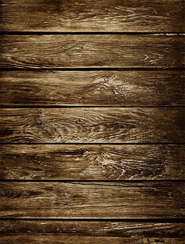 AOFOTO 3x5ft Old Wood Plank Backdrop Grunge Wooden Board Photo Shoot Background Vintage Weathered Hardwood Fence Panels Photography Studio Props Kid Child Baby Boy Girl Portrait Video Drop Wallpaper - Background Board