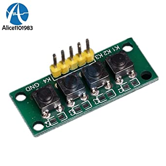 1x4 4 Keys Button Keypad Keyboard 5Pin Breadboard Module for Arduino DIY