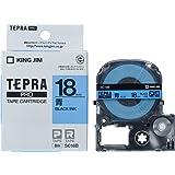 "KING JIM ""Tepra""PRO磁带盒 彩色标签(粉彩) 18mm 蓝色"