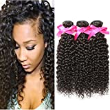 DSOAR 100% Peruvian Unprocessed Virgin Kinky Curly Human Hair Weave 3 Bundles Deep Curly Hair Extensions Mixed Length 16 18 20 inches Review