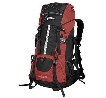 mochilas montaña bolso del alpinismo 70 + 10L hombros de la mochila masculino con dosel Mochilas de marcha (Color : Rojo , Tamaño : 70+10L) : Amazon.es: ...