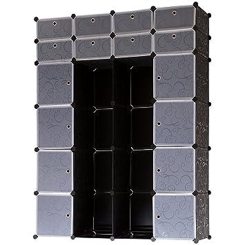 Regalsystem holz mit türen  neu.holz] 16-Türen Garderobe Regalsystem (180 x 145 x 37 cm ...