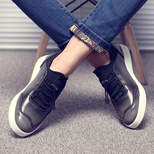 ZXCV Zapatos al aire libre Zapatos de los hombres ocasionales de cuero de los zapatos del monopatín de los hombres Gris