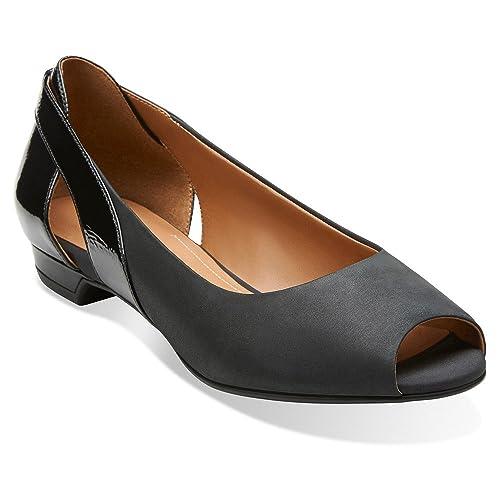 b59b8e2030e2b CLARKS Coralie May Womens Peep Toe Flats