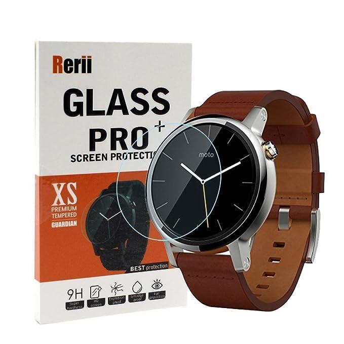Motorola Moto 360 2 Protector de pantalla de cristal templado, rerii 42 mm protector de pantalla de cristal templado para Motorola Moto 360 2 nd Gen ...