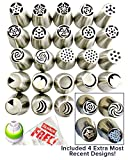 Russian Piping Tips 49-pcs Icing Tips Cake Decoration tips Set 27 XLarge Piping Nozzles 20 FREE Bags 2 Couplers DELUXE Cake Piping Icing Nozzles Baking Supplies Kit + Instructional Videos