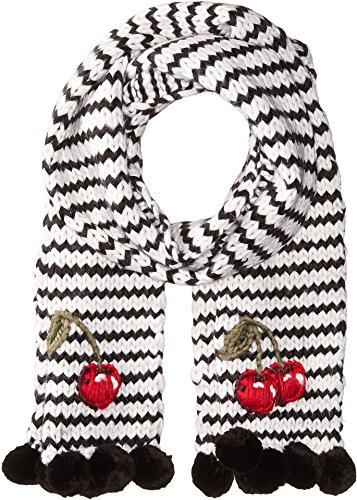 Kate Spade New York Womens Hand Knit Ma Chérie Muffler Cream One Size by Kate Spade New York