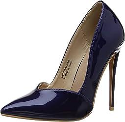 10558ad6ee41 Lost Ink Women's Talulah Sweetheart Cut Court Shoe Closed Toe Heels