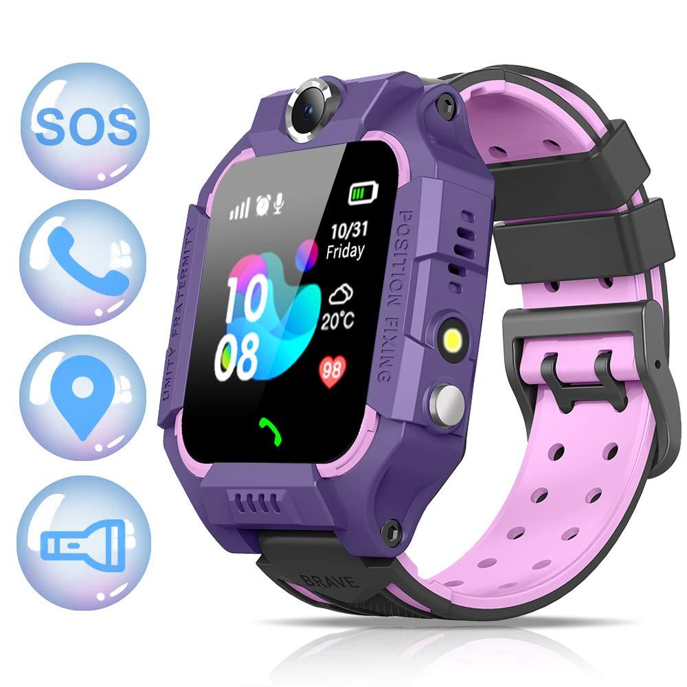 NAIXUES 2019 Smartwatch Niños, Reloj Inteligente para Niños Impermeable 67 con Linterna, SOS, LBS, Comunicación Bidireccional Cámara Chat de Voz, ...