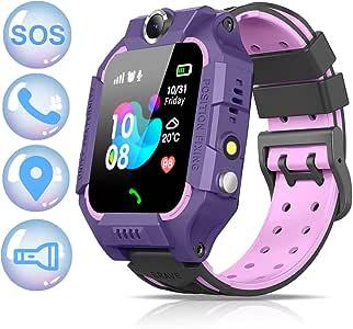 NAIXUES 2020 Smartwatch Niños, Reloj Inteligente para Niños Impermeable 67 con Linterna, SOS, LBS, Comunicación Bidireccional Cámara Chat de Voz, Reloj Infantil Regalo para Niño Niña de 3-12 Años