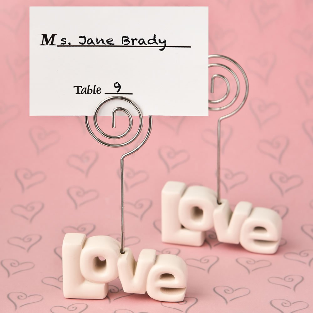 150 Love Theme Placecard Holder From Fashioncraft