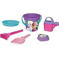 Wader 77937 Emmerset Disney Frozen met emmer, zeef, waterkan, schep, hark en zandvorm, 6-delig, kleurrijk