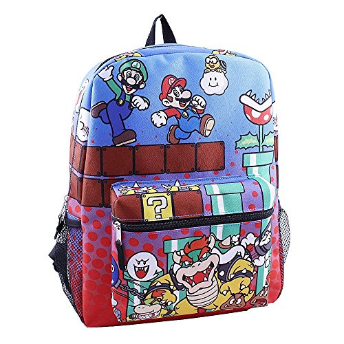Nintendo Brothers 16 inch School Backpack