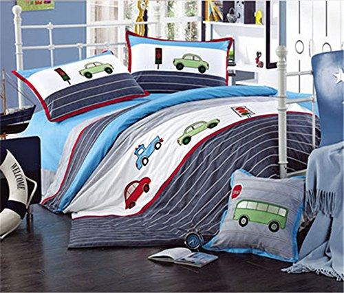 Auvoau Trucks Tractors Cars Boys 4-Piece Comforter Sheet ...