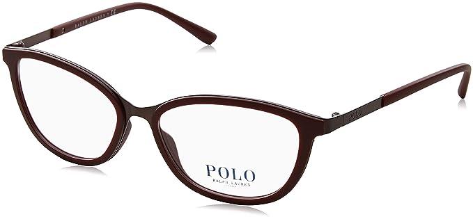 Ralph Lauren Polo 0PH1166, Monturas de Gafas para Mujer, Matte Brown, 53
