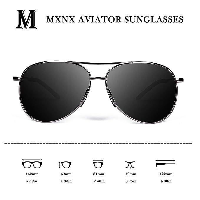 Amazon.com: MXNX Aviator Sunglasses for Men Polarized Women ...