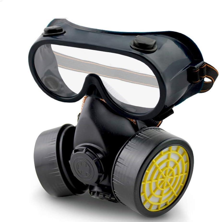 Doble Tanque Tipo De Filtro Máscara De Gas Gafas Carbón Activado Máscara De Gas Máscara De Gas