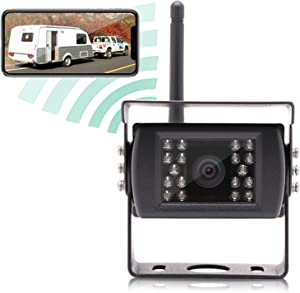 EWAY Wireless Backup Rear View Barn Camera for Truck RV Camper Horse Travel Trailer fits iPhone iPad Android Smartphone Tablet,12V-24V