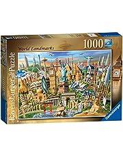 Ravensburger World Landmark pussel, sevärdheter från hela världen, 1000 delar