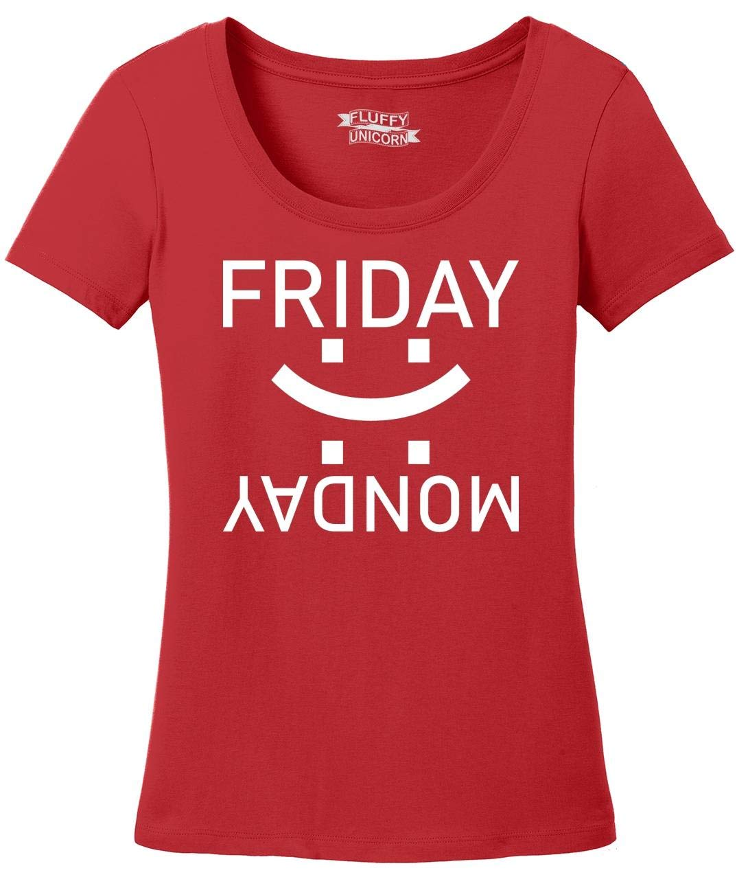 Happy Friday Sad Monday Scoop Tee 8608 Shirts