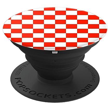 Amazon.com: Pizarra de cuadros roja y blanca, diseño de ...