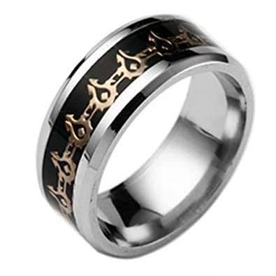 Men Jewelry World of Warcraft Stainless Steel Ring Men Lord of the