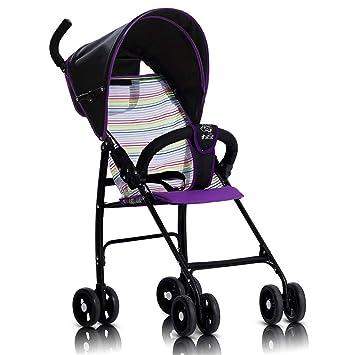 Cochecito Bebé Plegable Silla De Paseo Ligero Carrito NiñO Carricoche,Purple