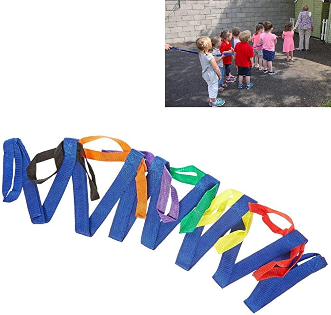 Colorful Walking Rope with Handles Outdoor Safety Daycare Rope for Preschool Children Daycare School Lainrrew Walking Rope