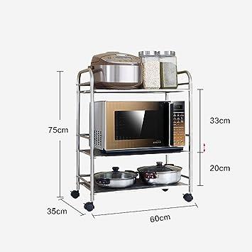 Zws küche regale mikrowelle ofen rack landing edelstahl pot rack küche zubehör zulassung lagerung rack