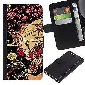 NEECELL GIFT forCITY // Billetera de cuero Caso Cubierta de protección Carcasa / Leather Wallet Case for Apple Iphone 6 PLUS 5.5 // Lsd psicodélico patrón