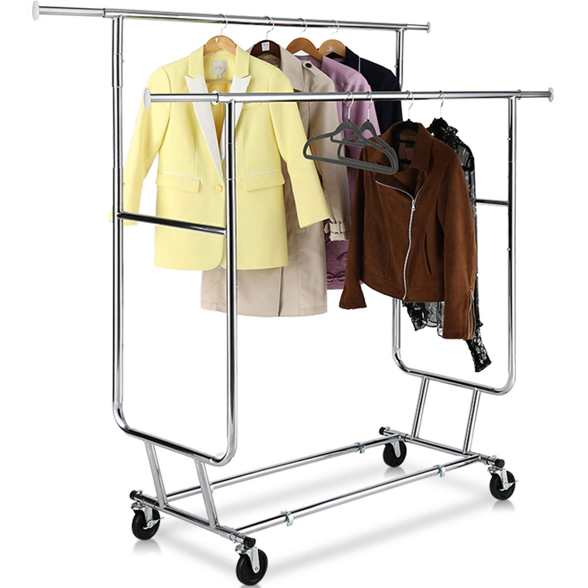 TomCare Garment Rack Double Clothes Racks