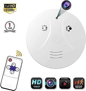 Smoke Detector Camera, Viiwuu Upgrate Hidden Cameras 1080P Video Camera for Indoor Home Security Monitoring Nanny Cam Motion Detection Hidden Cameras