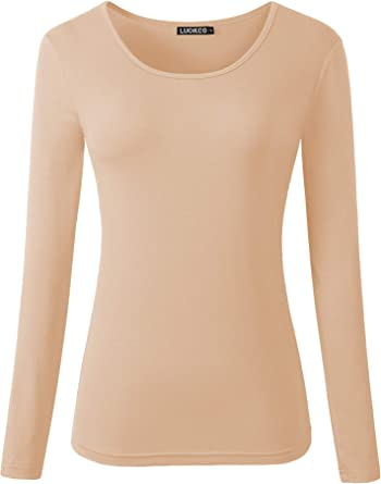DFL Kids Long Sleeves Round Neck Plain Basic Strech T-Shirt