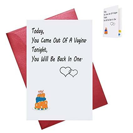 Amazon Birthday Greeting Card For Husband Boyfriend Him Rude Naughty Romantic Anniversary From Wife Folded With Envelope