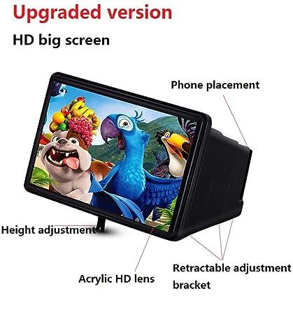 {Upgrade} 12-Pulgadas De Pantalla del Teléfono Móvil Amplificador 3D Video HD Lupa