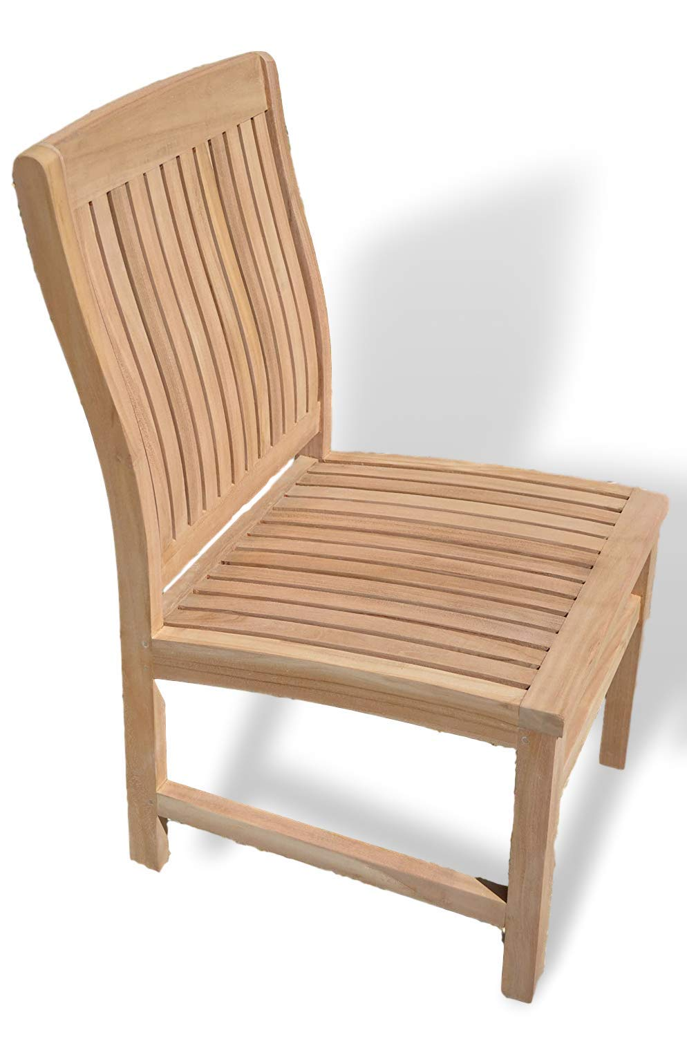 Marlborough - Solid Teak Fixed Chair - Contoured Back